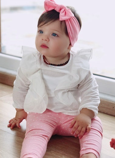 Baby Giz Bandana Pembe